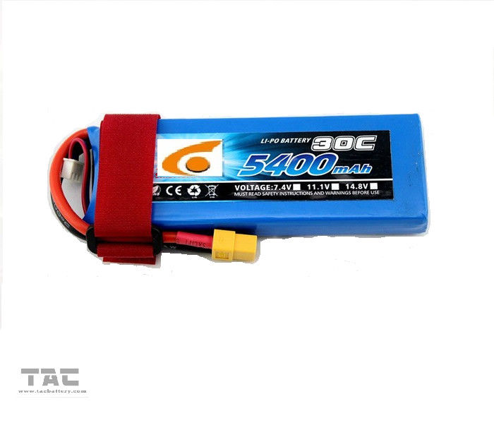 RC UAV Drone Polymer Lithium Ion Batteries 7.4V 5400mAh 2S 25C discharger