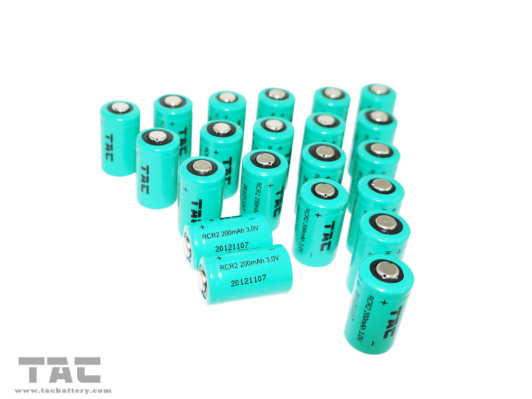 Rechargeable 3.0V CR2 / IFR15270 3.2V LiFePO4 Battery For Medical Equipment