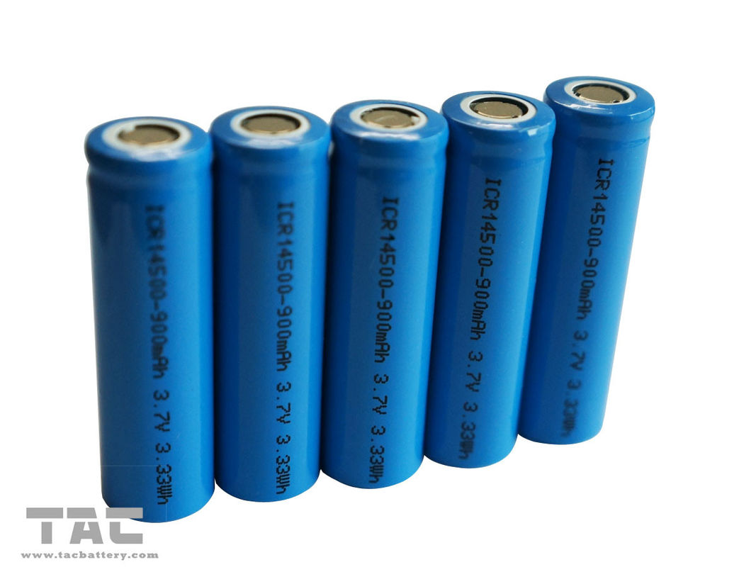Rechargeable Lithium Ion Cylindrical Battery AA  3.7V 14500 For Solar