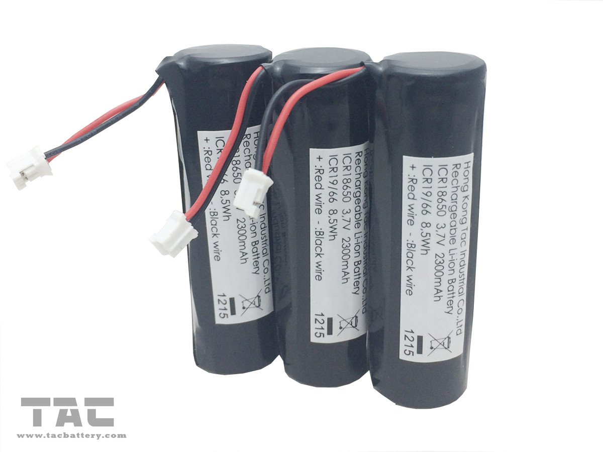 3.7 Volt 2300mAh Lithium Ion Cylindrical Battery Rechargeable for Bicycle Headlight